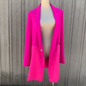 ⭐️Topshop hot pink contrast panel blazer dress